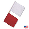 B2585 - Red/white Officials Flag