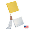 Yellow/white Officials Flags